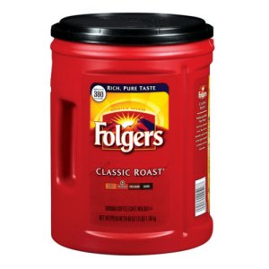 Folgers Classic Roast Ground Coffee 48 oz, 380 Cups