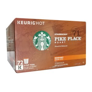 Starbucks Pike Place Medium Roast 72 Count K Cups Keurig